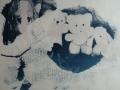 aus der Zeit der Liebe, Cyanotypie gefärbt, A4