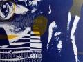 in den Tiefen seines Innern, Cyanotypie mit Materialdruck, A4
