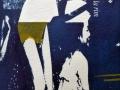 mit einem perlenden Lachen der Ausgelassenheit, Cyanotypie mit Materialdruck, A4