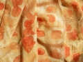 Ecoprint mit Eukalyptusblättern auf Wolletamine