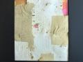 ohne Titel mit handgeschöpftem Papier, esperimenteller Siebdruck-Mix, Unikat