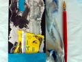 Künstlerfaltbuch Södergran 1 mit festen Deckeln und Arbeitstexten