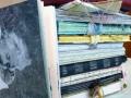 handgebundene Bücher Stapel Seite vorn Einstein