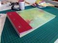 handgebundenes Fotoalbum A4 Querformat mit 3 Buchschrauben
