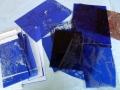 neue Intaglio Druckplatten vor ihrem ersten Druck