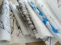 Paperroll with poems 09-1 Sept Art Diary dailypoetry